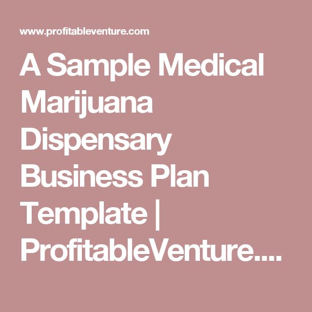 A sample medical marijuana dispensary business plan template a sample medical marijuana dispensary business plan template profitableventure accmission Images