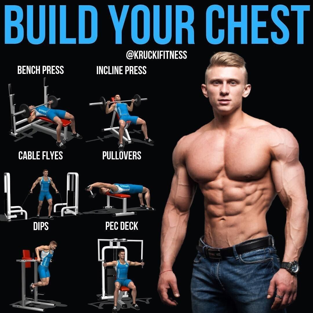Build your chest fitness fit gym sport Chest workout
