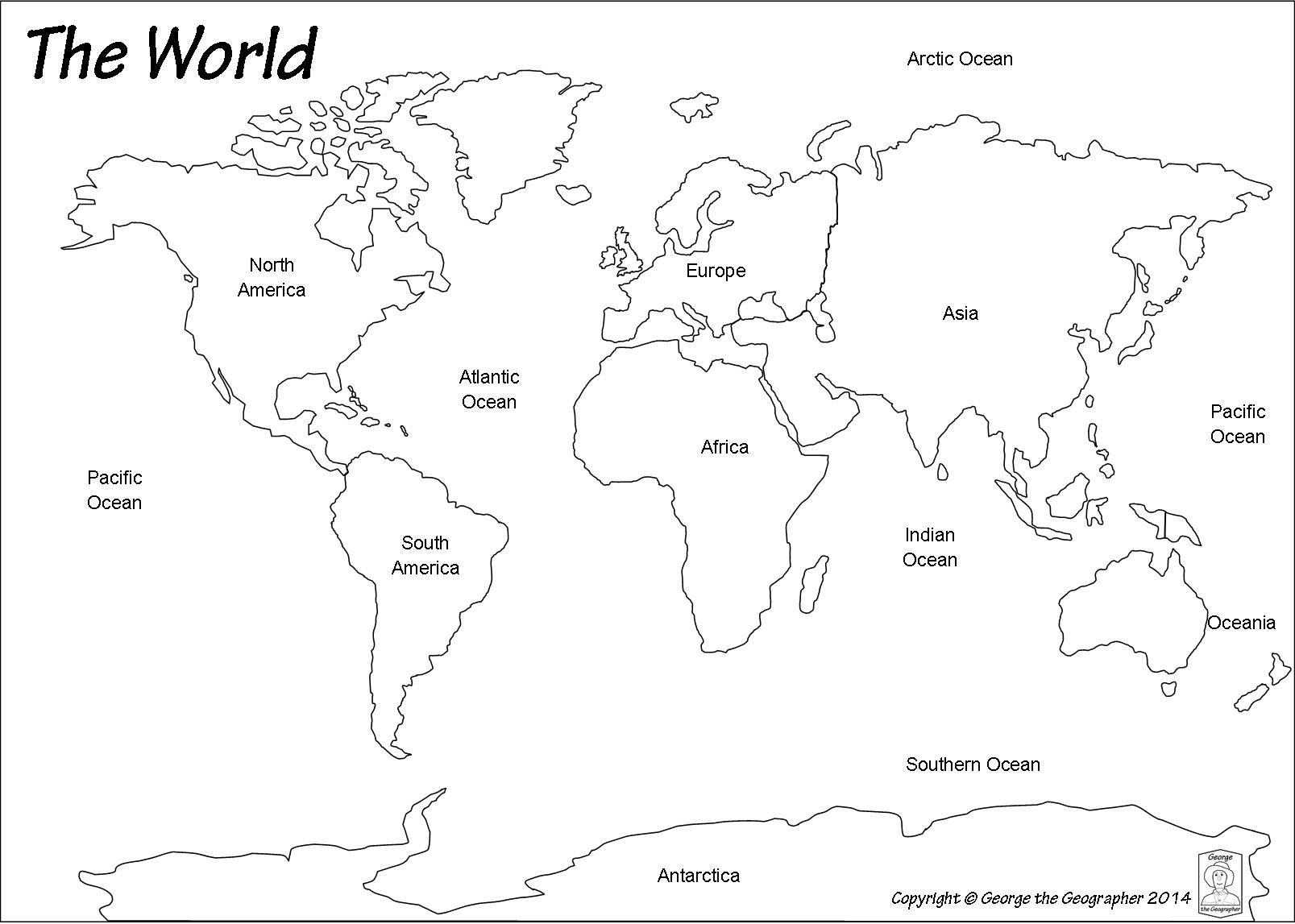World Map Countries Capitals Copy Outline Base Maps