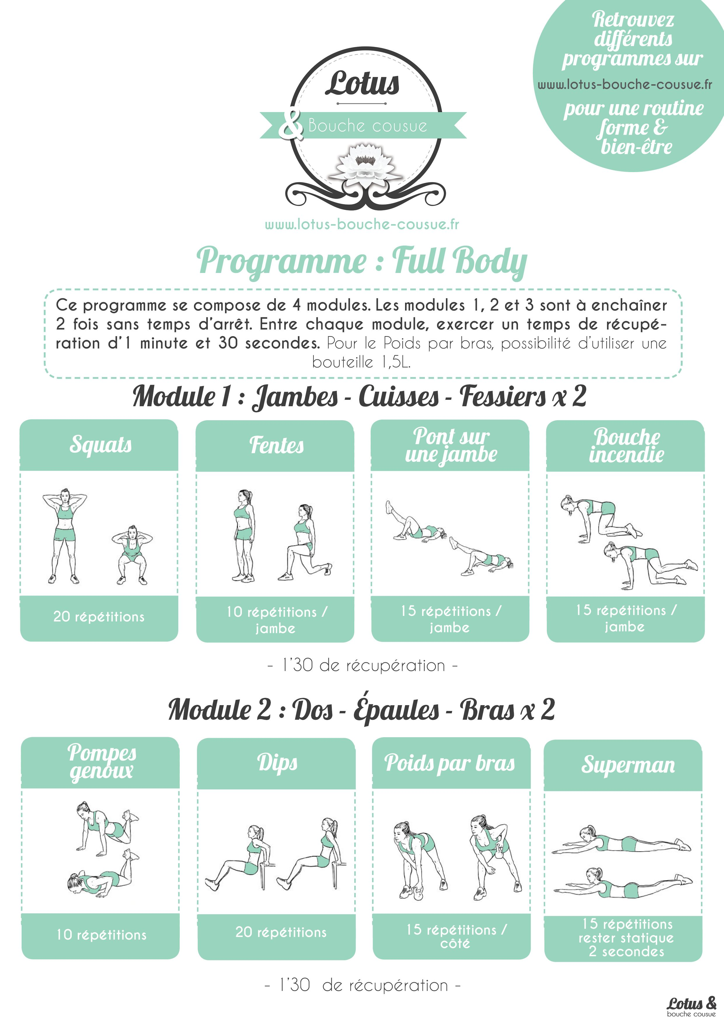 Programme fitness full body n 2 un programme complet for Programme sportif musculation