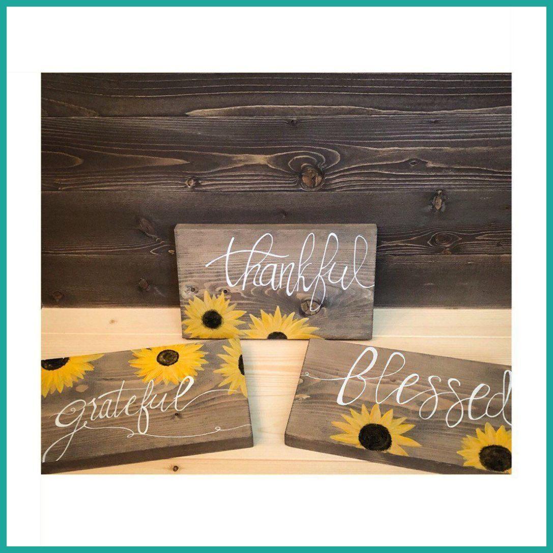 Rustic Wood Fall Sign Set Sunflowers Homedecor Gift Sunflower Porchsigns Kitchen Dec Decor Home
