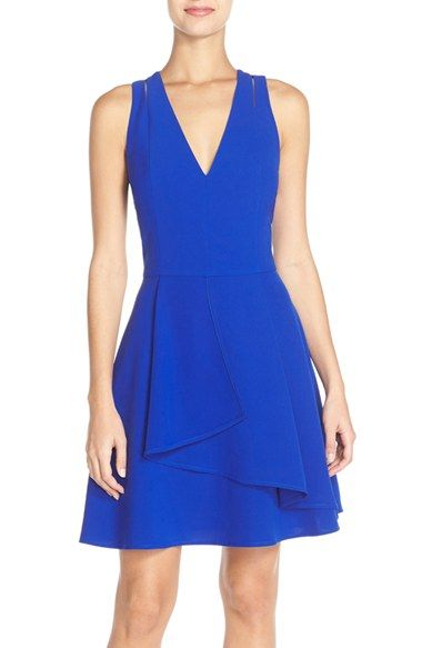 7b00025d Adelyn Rae Asymmetrical Ruffle Front Fit & Flare Dress   Nordstrom ...