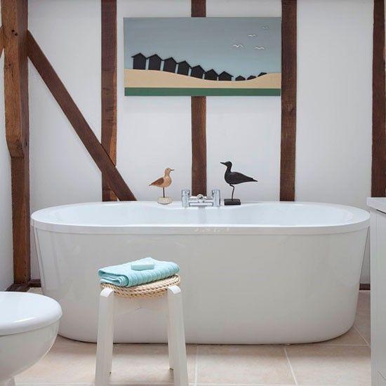 Wohnideen Badezimmer weiß Landhausstil Foto - Damian Russel - wohnideen small bathroom