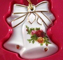 Royal Albert China Series Christmas Ornaments Bells