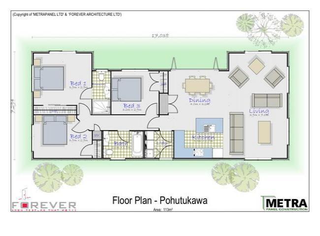 Plantas de apartamentos rectangulares google search for Casas rectangulares