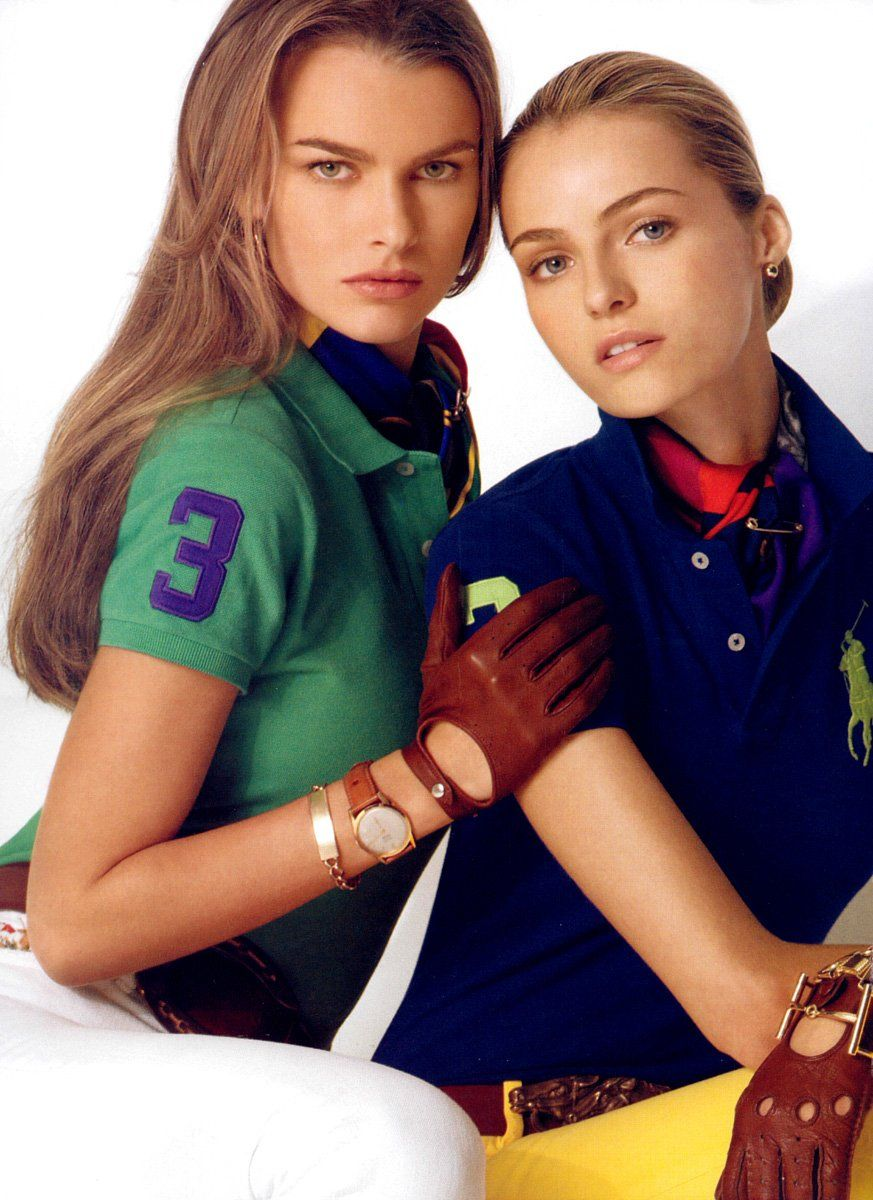 Polo Ralph Lauren advertisement. Polo shirt, riding gloves, leather.