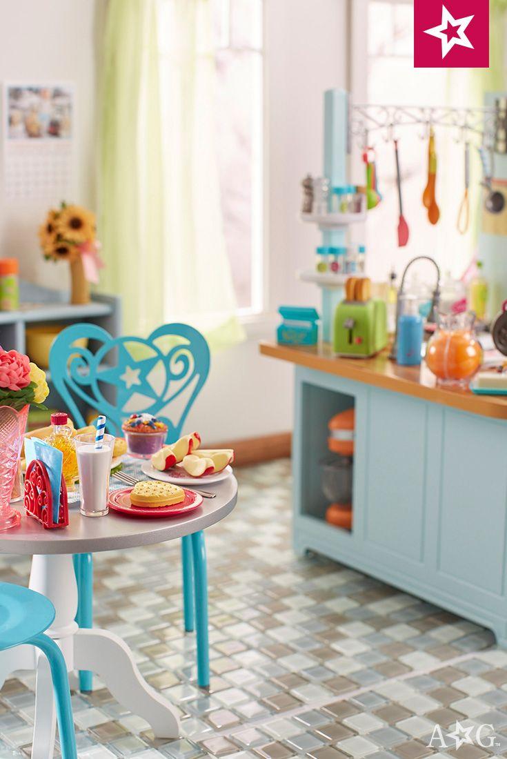 Ag gourmet kitchen girl pinterest muñecas américa y miniaturas
