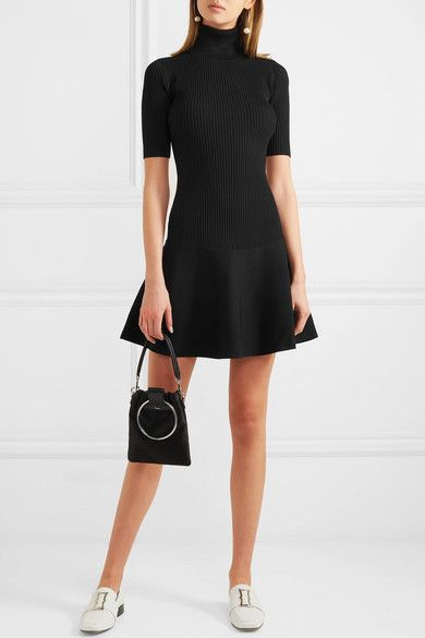 ca2d7f5e MICHAEL Michael Kors | Ribbed stretch-knit turtleneck mini dress |  NET-A-PORTER.COM