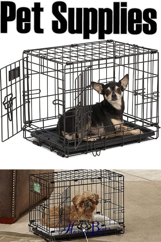 Midwest Homes For Pets Dog Crate Icrate Single Door Double Door Folding Metal Dog Crates Fully In 2020 Toy Dog Breeds Dog Lovers Dog Harness