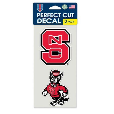 North Carolina State Wolfpack Official Ncaa 4 inch x 4 inch Each Die Cut Car Decal 2-Pack by Wincraft, Multicolor