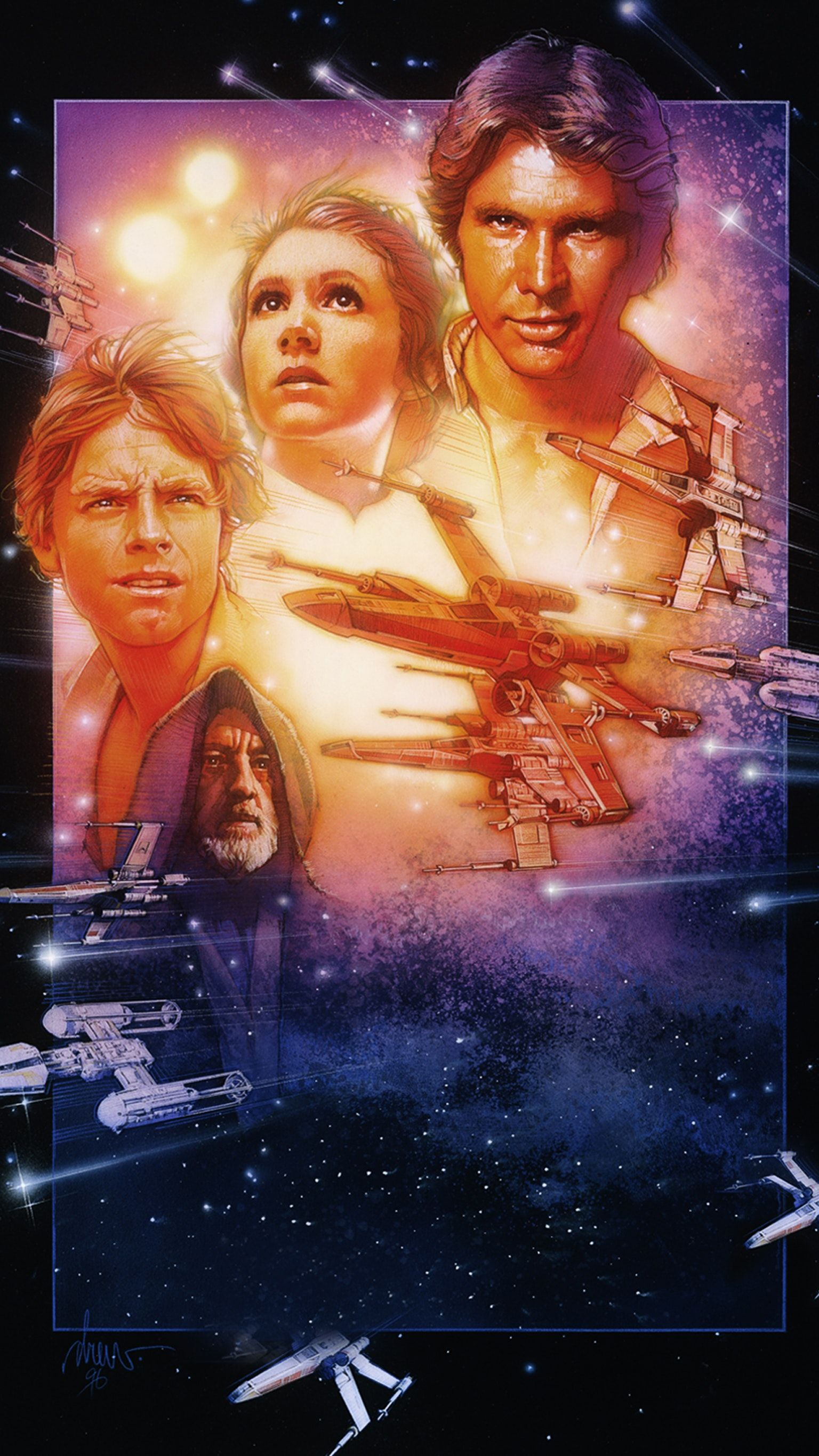 Star Wars 1977 Phone Wallpaper Star Wars Episode Iv Star Wars