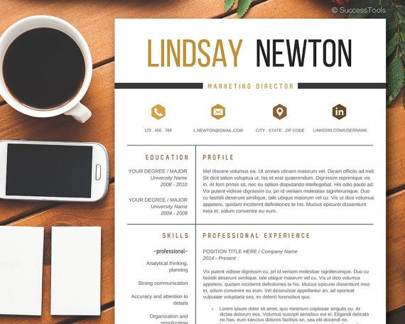 Modern Resume Template with Cover Letter, CV Template - resume tem