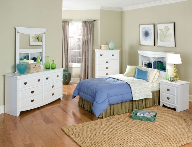 bedroom For the home Pinterest White bedroom furniture