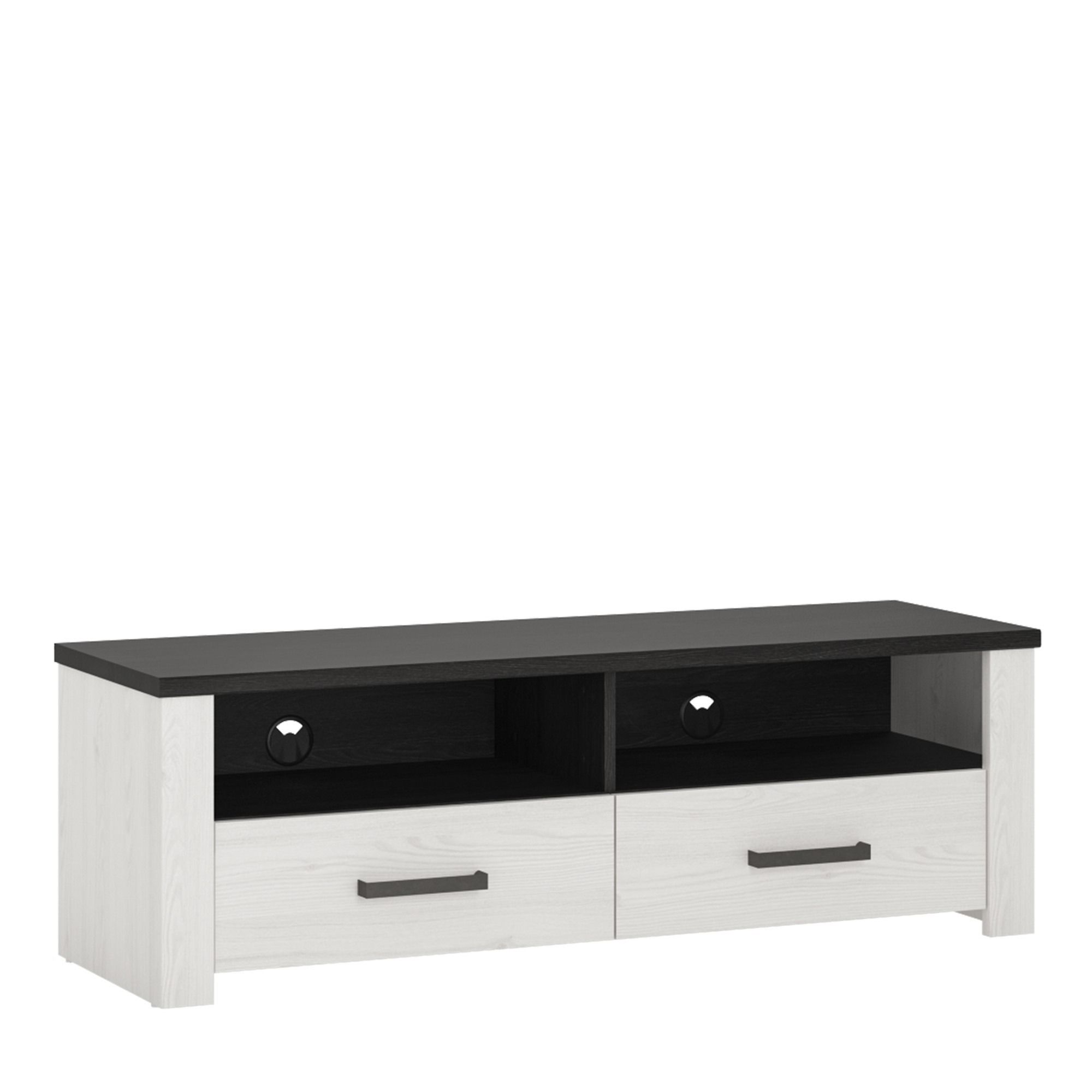 Provence 127cm Wide 2 Drawer TV Cabinet   Nice Compact 127cm Wide And Low TV  Stand
