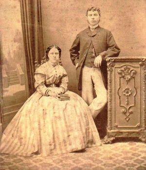 Photo of Annie and John Chapman, c 1869 (Chapman family/Neal
