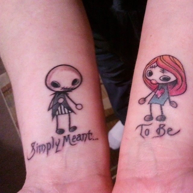 e2d42c9cb Jack And Sally Couple Tattoos | Car Interior Design | Tattoos that I ...