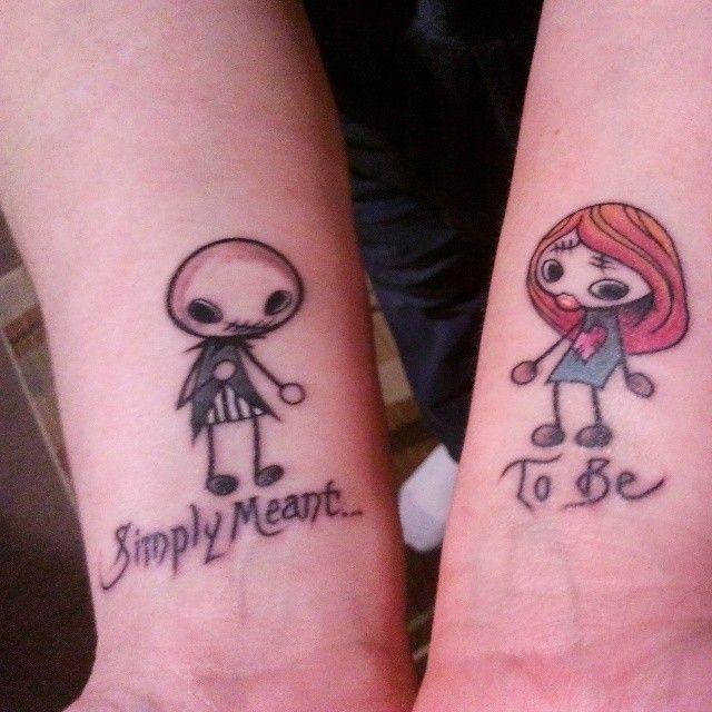 683a3db85 Jack And Sally Couple Tattoos | Car Interior Design | Tattoos that I ...