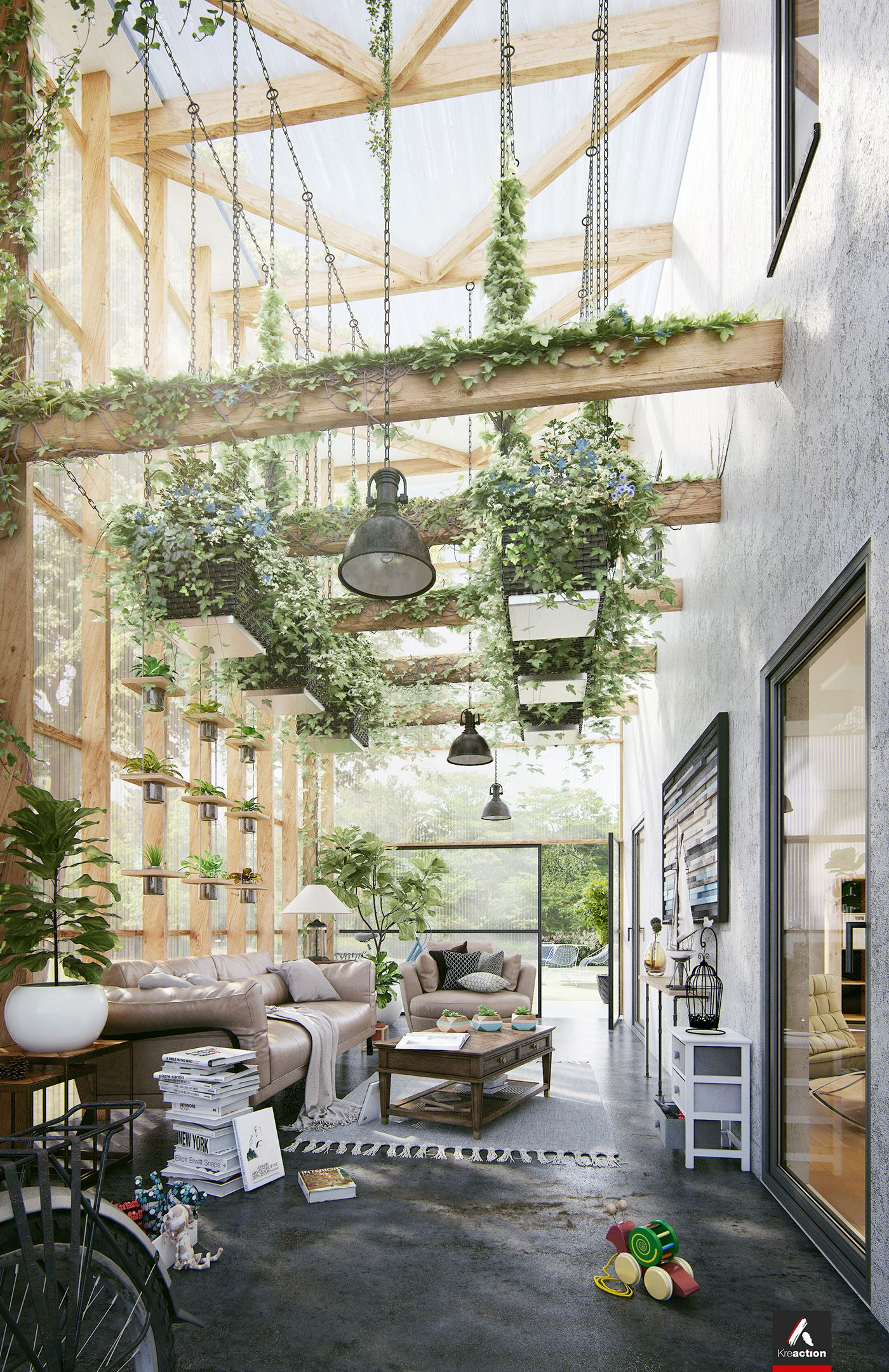 Green Room Garden Design: Talk About Going Green! Possibly An Inspiration Room. Ask