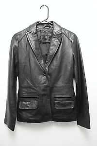 -#KennethCole New York brand -100% soft #leather -blazer style jacket