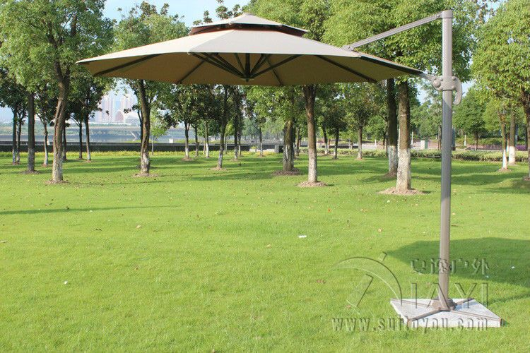 Lovely Dia 3 Meter Aluminum Outdoor Sun Umbrella Parasol Patio Cover Outdoor  Furniture Shade 360 Degrees Rotation