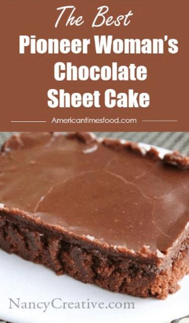 Pioneer Woman S Chocolate Sheet Cake Yummy Food