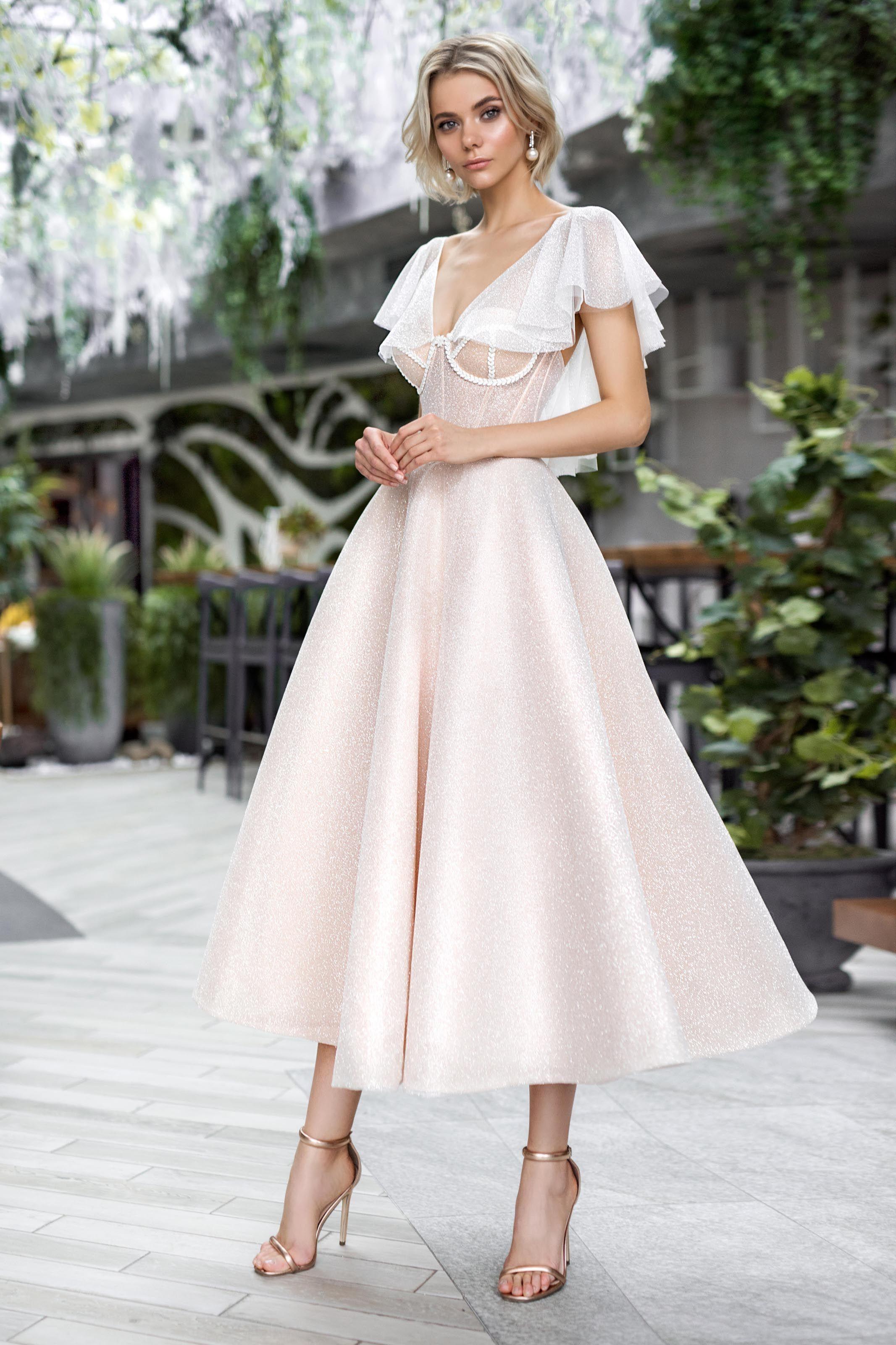Wedding Gown Strekoza Selesta Luxx Nova Short Wedding Dress Guest Dresses Beach Wedding Dress Boho [ 3200 x 2133 Pixel ]
