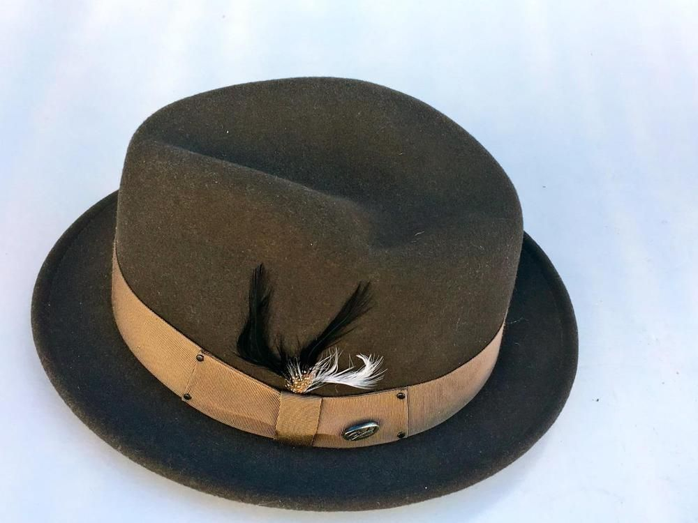 9f99e5ceaeef3 Bailey Of Hollywood 100 % Wool Center Dent Tino Fedora~Mens~Size Large~BROWN~VTG   BAILEYOFHOLLYWOOD  Fedora
