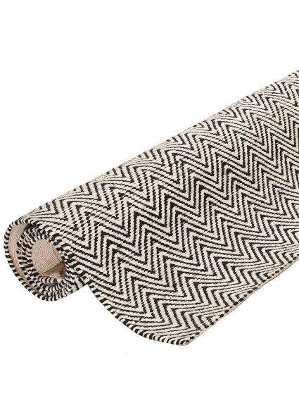 Teppich Läufer Ives Schwarz/Weiß 80x300 Cm