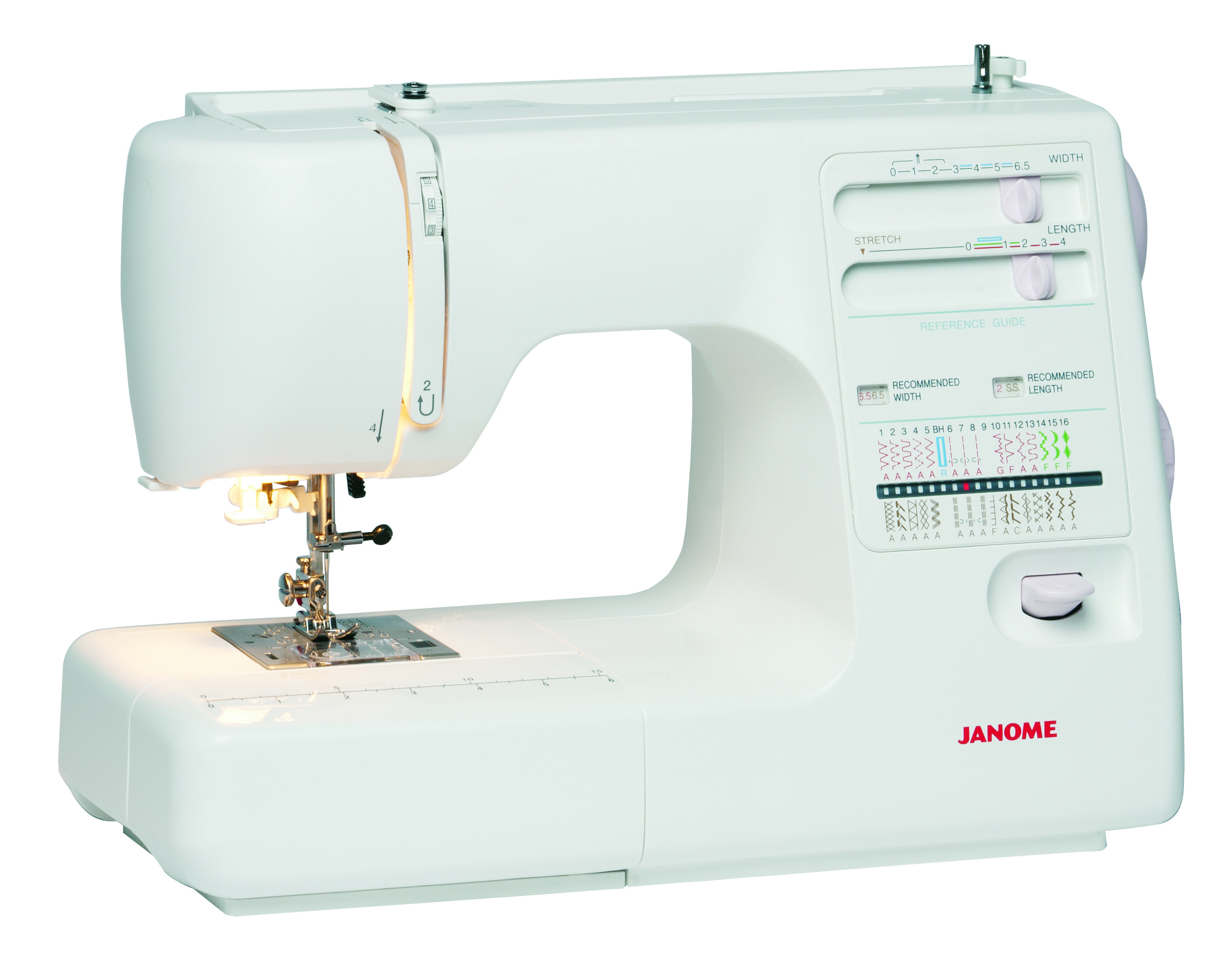 The Janome MS5027LE is an ergonomically-designed model with SFS Superior  Feed System - for