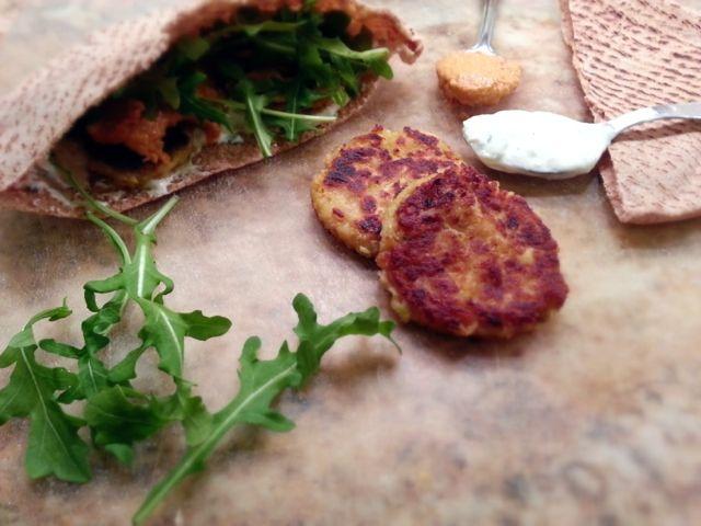 Healthy calabacín Falafel