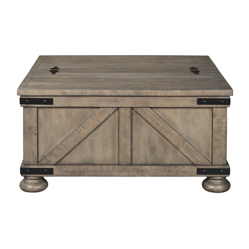 Emiliano Lift Top Coffee Table With Storage In 2020 Grey Wood