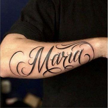 4 Fuentes Y Tamanos De Tatuajes Con Nombre En El Brazo Caligrafia Brazo Caligrafia Con Fuentes Nombre In 2020 Tattoo Lettering Forearm Name Tattoos Tattoos