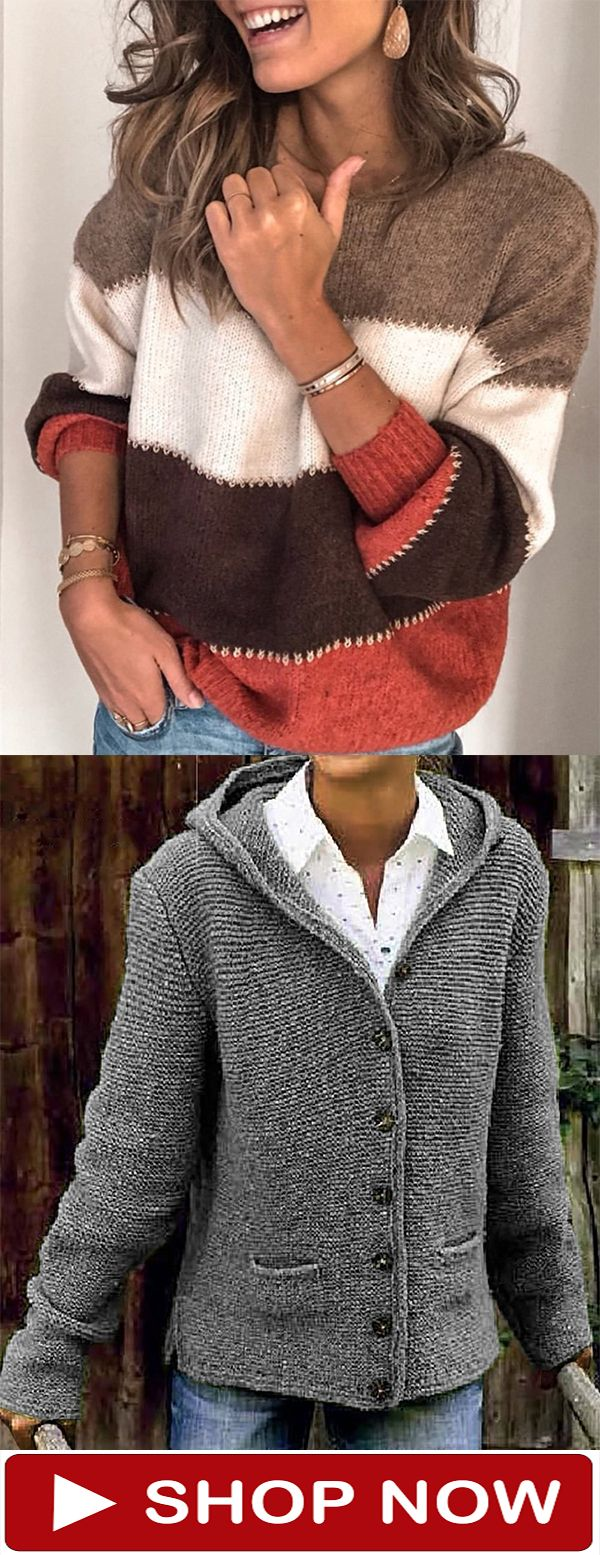 Photo of Fashion Knitted Sweater Outerwear