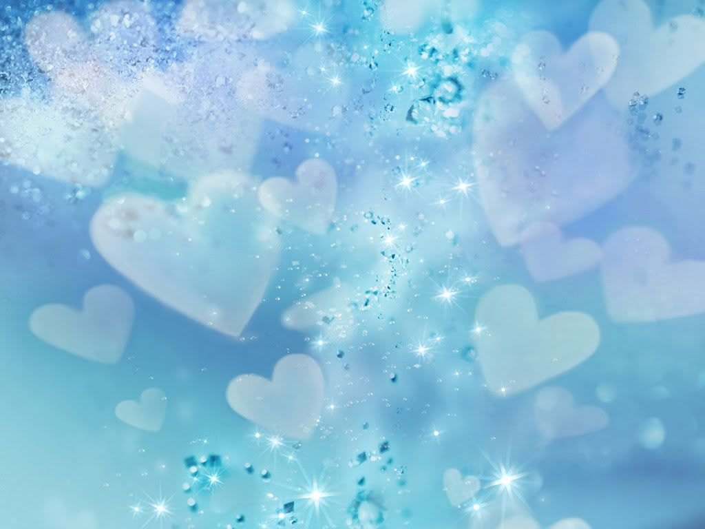 wallpaper rain blue hearts - photo #21