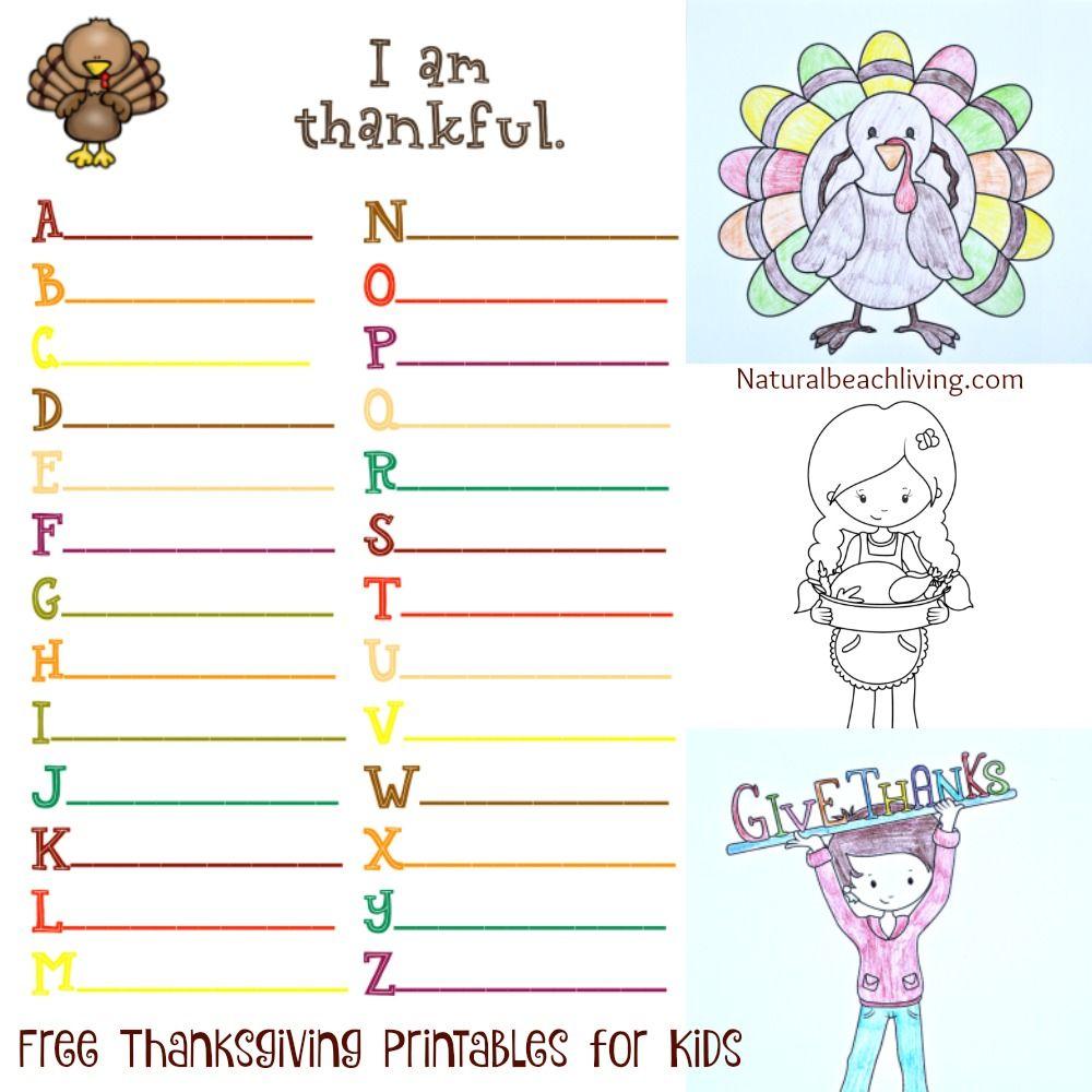 Thanksgiving Printables for Kids Thanksgiving worksheets