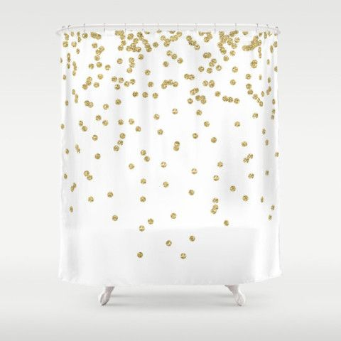 silver and gold shower curtain. Shower Curtain  Gold Dots Teen
