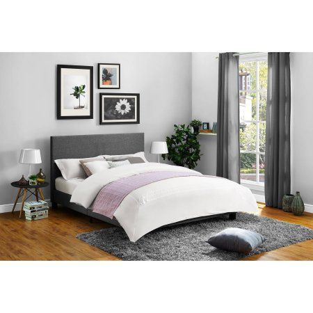 Free Shipping. Buy Mainstays Upholstered Bed, Multiple Sizes ...