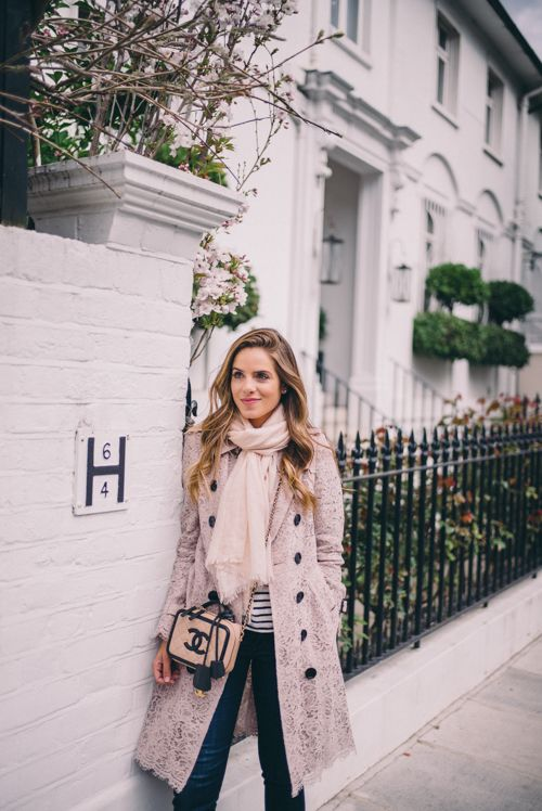 PINK LACE TRENCH - Gal Meets Glam