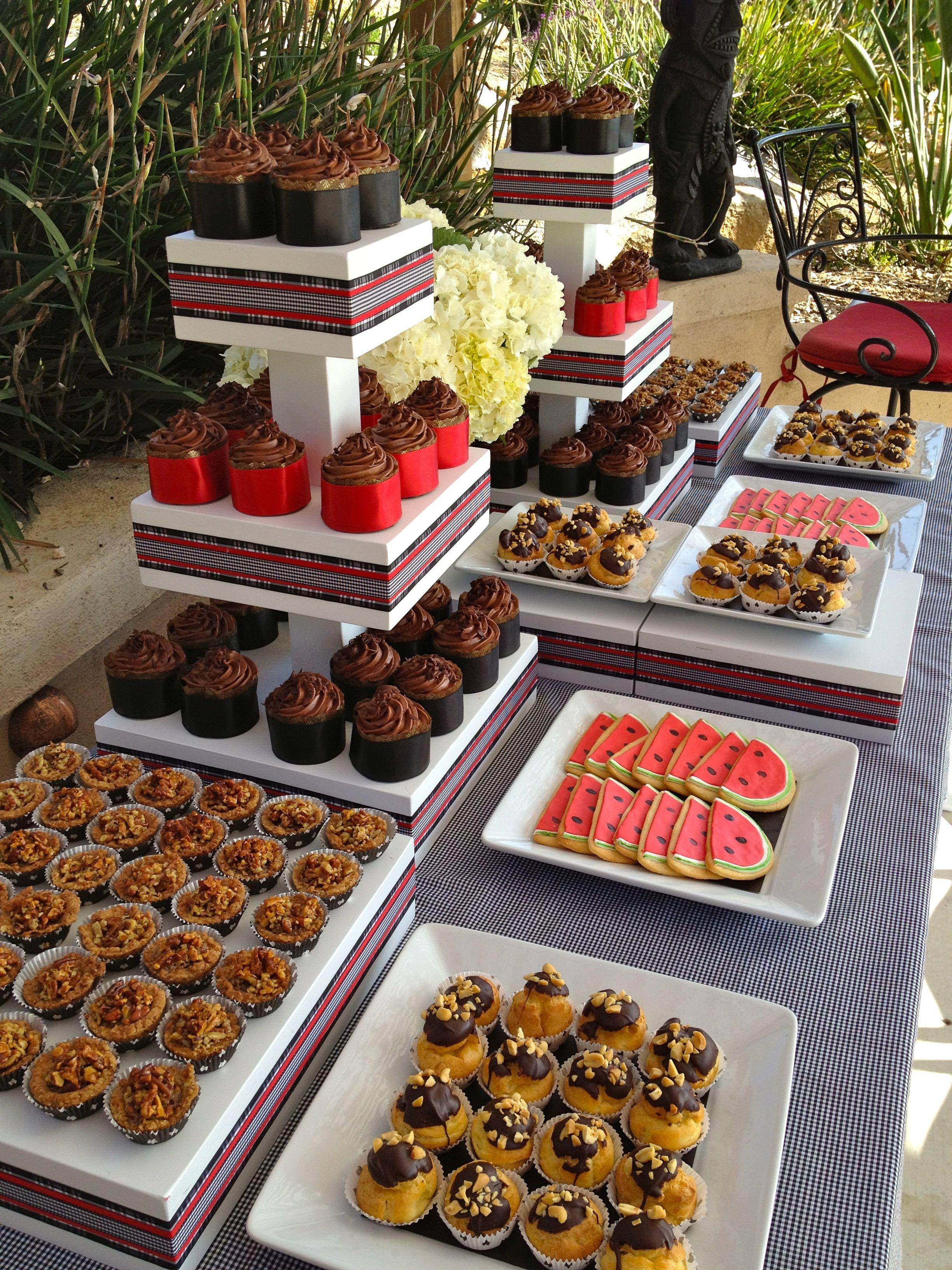 Dessert Table At Backyard Wedding Reception