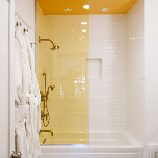 Coloured shower screen