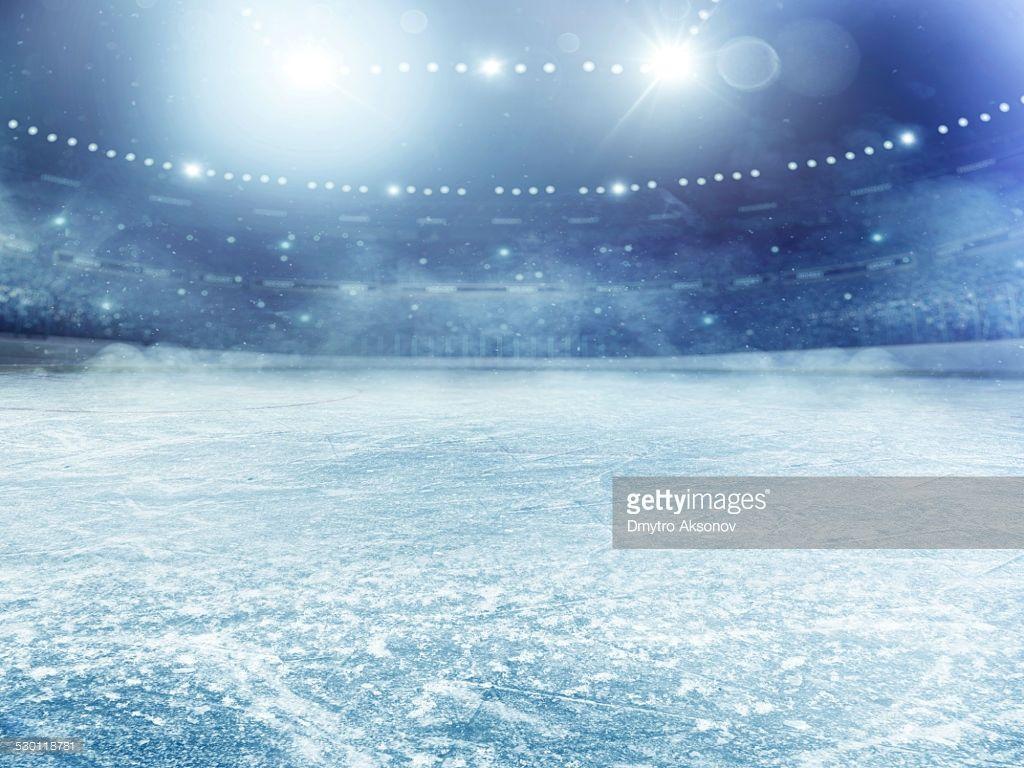 Dramatic Ice Hockey Arena Hockey Arena Ice Hockey Hockey