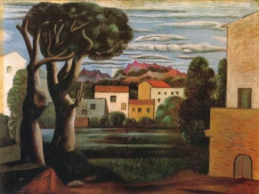 Pablo Picasso: Landscape with Dead Tree - 1919 I see value in the trees as the bark gets lighter from left to right.