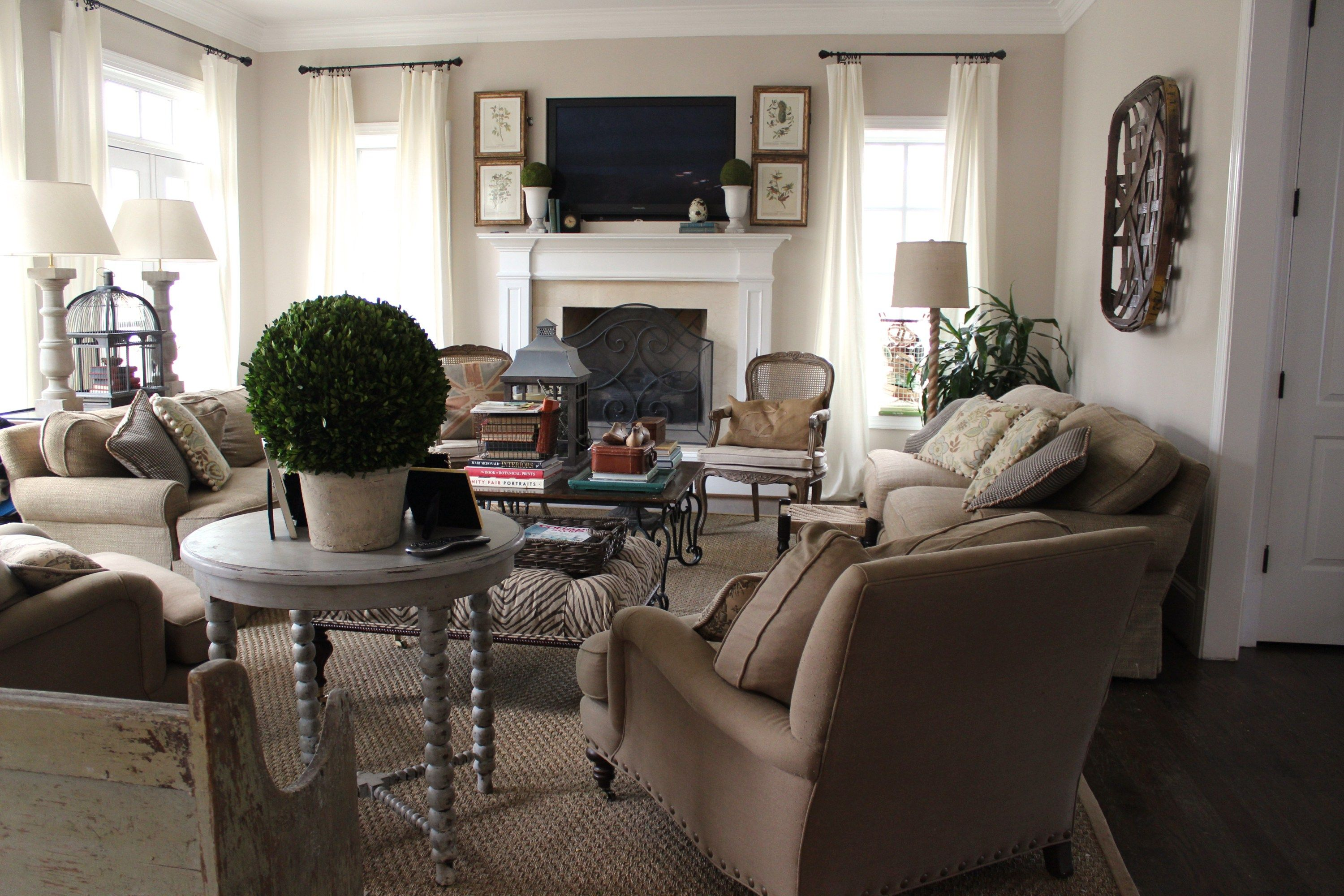 When We Designed Our Home We Knew We Wanted The First Floor To Have A Great Room Meaning A Kit Romantic Living Room Comfy Living Room Decor Living Room Decor