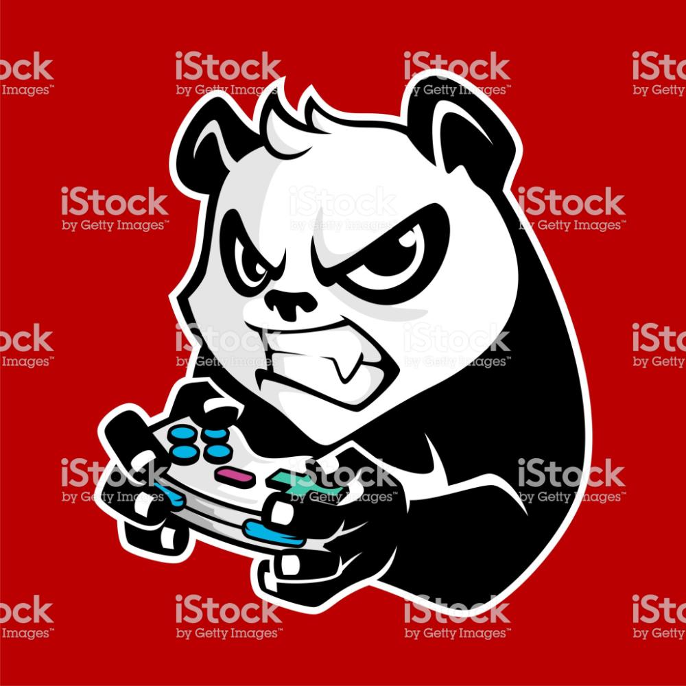 Illustration Of Angry Panda Holding Game Controller The Panda So In 2020 Pandas Playing Panda Images Free Vector Art