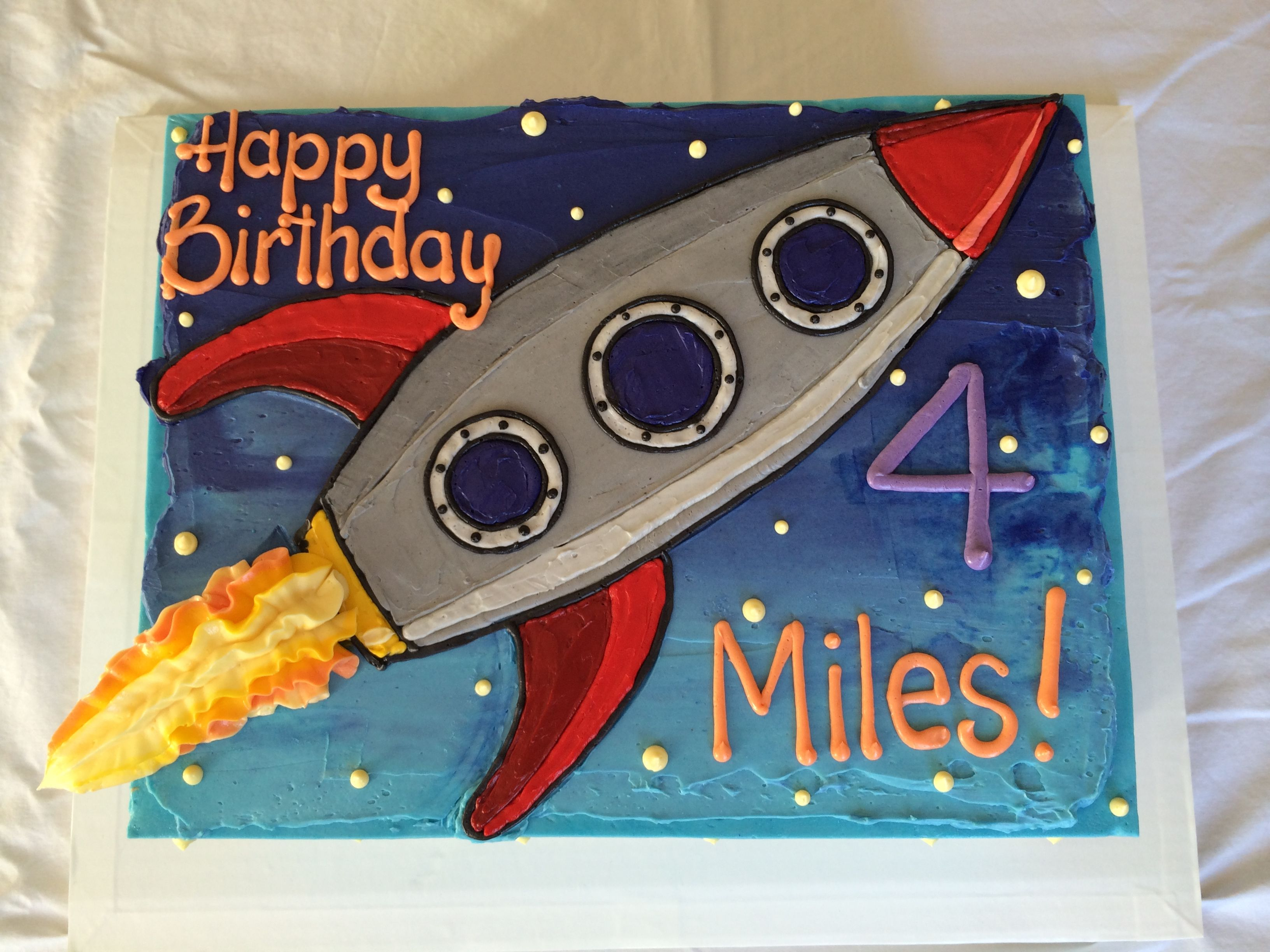 Custom Cakes from Sketch to Masterpiece Series 4 Rocket Ship