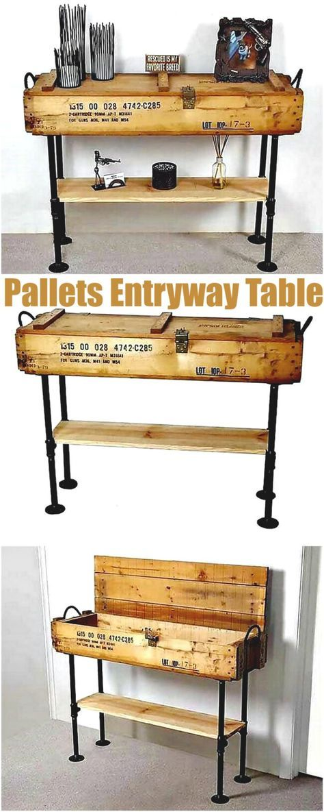 diy pallet iron pipe. This Pallet Wood Table Lends Your Interior An Awesome Piece Of Vintage Art. These Black Iron Pipe Legs Are Complementing The Rustic Diy