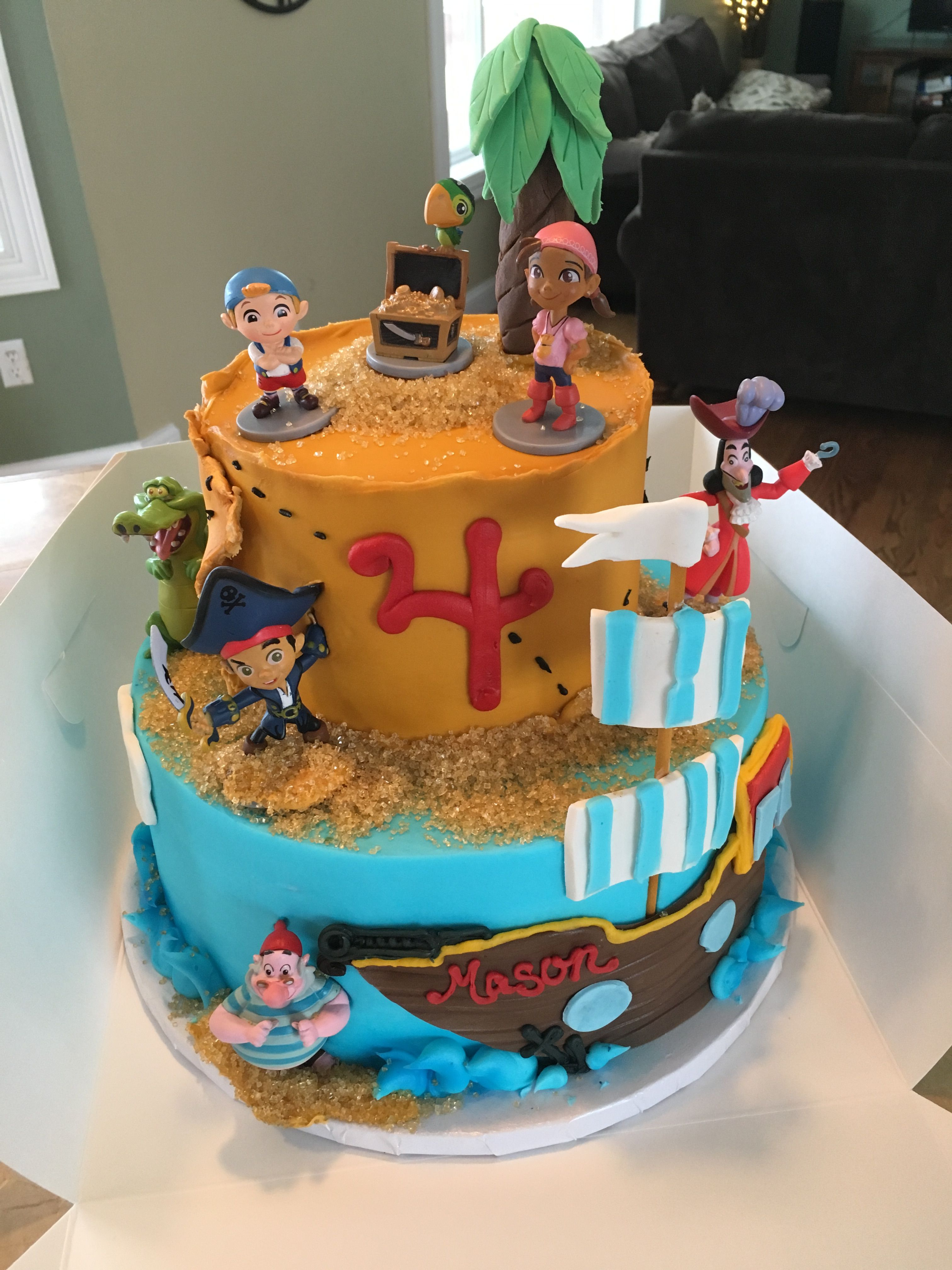 Miraculous Jake And The Neverland Pirates Cake Pirate Birthday Cake Pirate Funny Birthday Cards Online Inifodamsfinfo