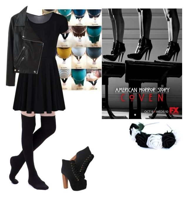 """""""me in: 'american horror story: Coven'"""" by j-j-fandoms ❤ liked on Polyvore featuring Jeffrey Campbell and Acne Studios"""