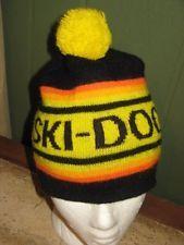 Vintage Ski-Doo Snowmobile Advertising Pom Pom Hat Cap Toque Snow 60 s 70 s ff2daf1ffedb