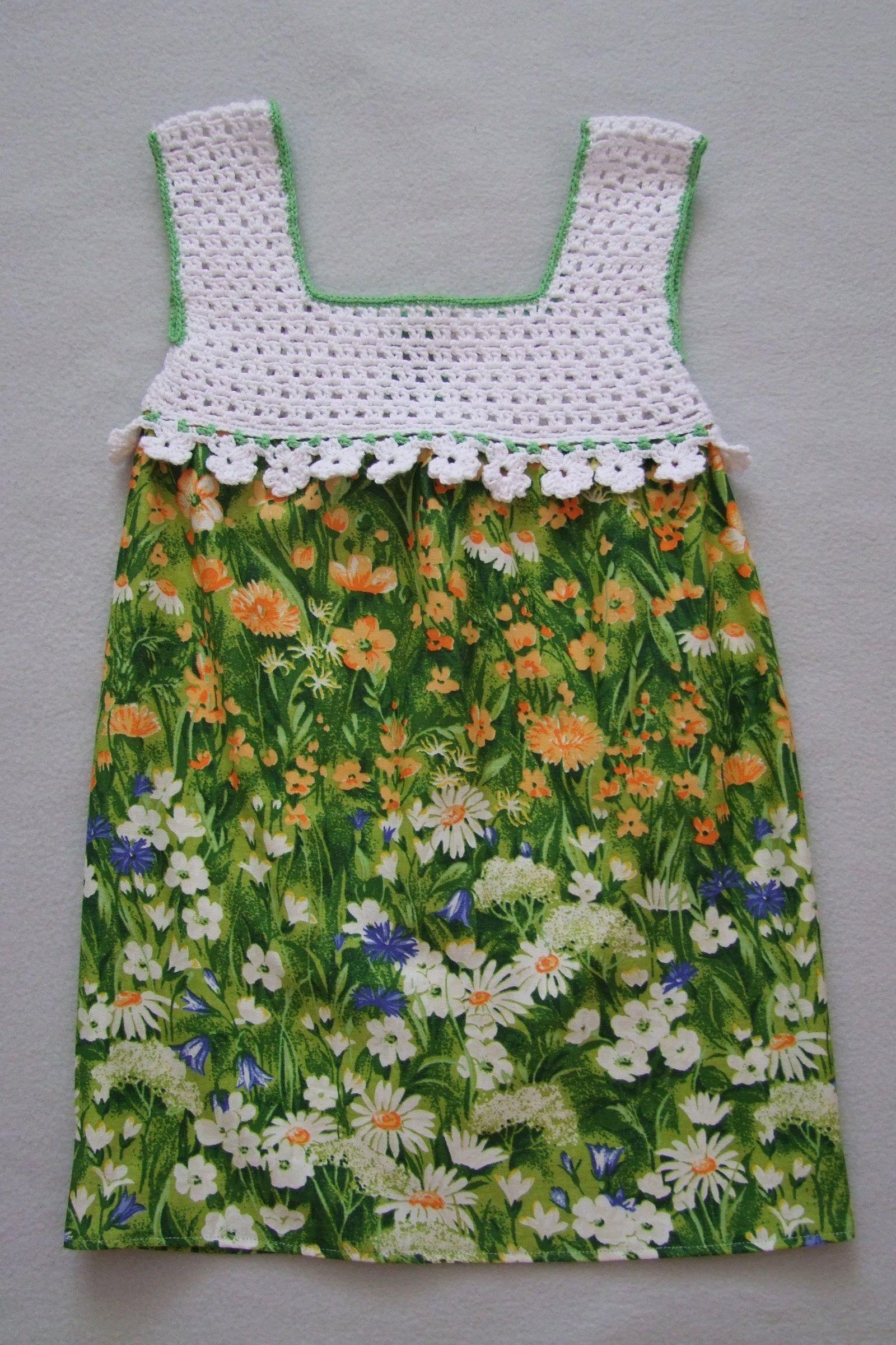 cf3e68a74156 Kvetoucí louka (bílý vršek) Dívčí letní šatičky